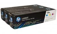 Набор картриджей HP CF341A 126 CMY оригинальный