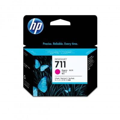 Картридж HP 711 CZ135A струйный пурпурный упаковка 3 шт