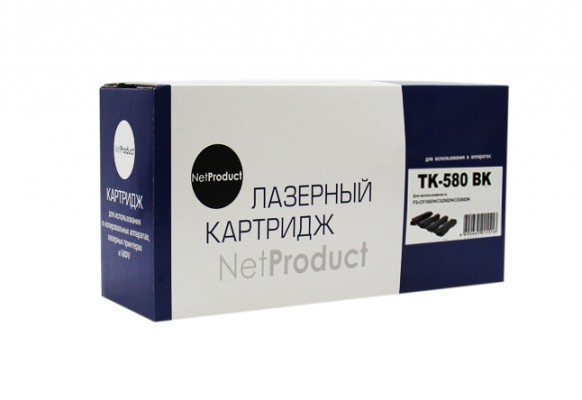 Тонер-картридж NetProduct Kyocera TK-580Bk, совместимый